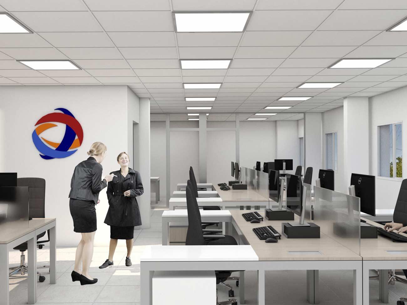 Layout amoblamiento oficinas diseño interior neuquen arquitectos